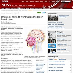 Brain scientists to work with schools on how to learn