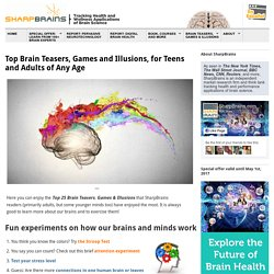 Brain Teasers: selection of best adult brain games for attention, memory, planning, visual, logic, corporate, math, and more