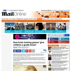 How brain training games 'give children a grade boost'