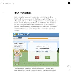 Brain Training Free