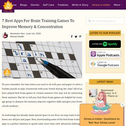 7 Best Apps For Brain Training To Improve Memory (Best of 2020)