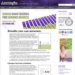 Brain Training Results