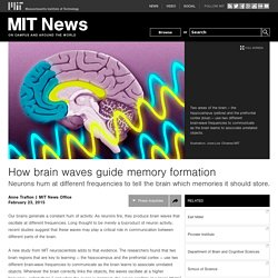 How brain waves guide memory formation