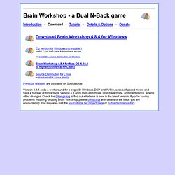 Brain Workshop - a Dual N-Back game