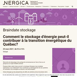 Braindate stockage - Nergica