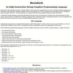 The Brainfuck Programming Language