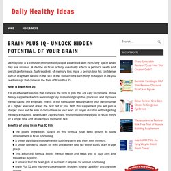 Brain Plus IQ - Ingredients, Facts & Side Effects