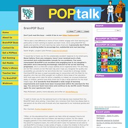 BrainPOP UK | BrainPOP UK customer buzz | POPtalk