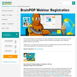 Webinar Registration Page - educators.brainpop.com