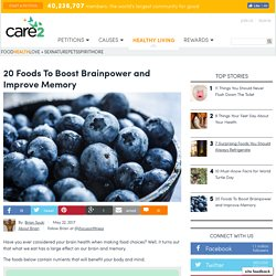 20 Foods To Boost Brainpower And Improve Memory