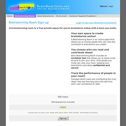 Online Brainstorming and Idea Management Software - Brainstorming Rooms