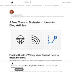 5 Free Tools to Brainstorm Ideas for Blog Articles – Marketing And Growth Hacking