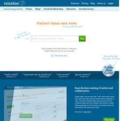 Brainstorming and Voting Amazingly Easy. Free Online Tool