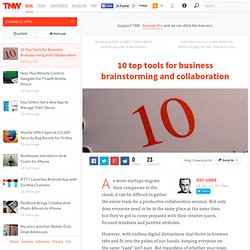 10 top tools for business brainstorming and collaboration