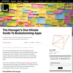 The Manager's One-Minute Guide To Brainstorming Apps