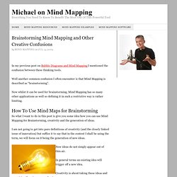 Brainstorming Mind Mapping using Mind Maps for Creativity and Generating Ideas