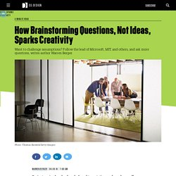 How Brainstorming Questions, Not Ideas, Sparks Creativity