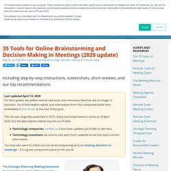 27 Tools for Online Brainstorming and Decision Making in Meetings (with Top Picks for 2018)
