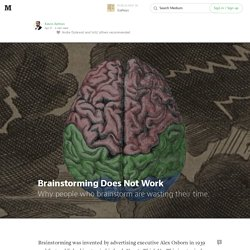 Brainstorming Does Not Work — Galleys