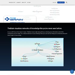 TheBrain - Mind Mapping Software, Brainstorming, GTD and Visual KM Software