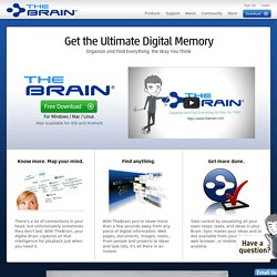 Mind Mapping Software, Brainstorming, GTD and Knowledgebase Software