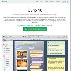 Curio - Note Taking, Mind Mapping, Brainstorming, and Task Management for Mac OS X