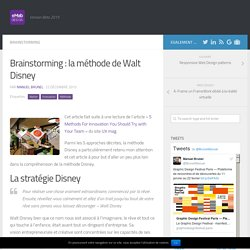 Brainstorming : la méthode de Walt Disney - eMab Design