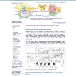 Brainstorming (techniques) et Remue-Méninges: Définition et exemple d'un processus d'animation et de conduite de réunion
