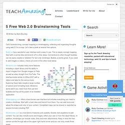 5 Free Web 2.0 Brainstorming Tools