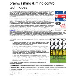 Brainwash & Mind Control