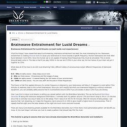 Brainwave Entrainment for Lucid Dreams