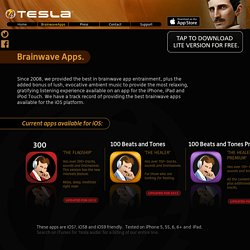 Brainwave Apps for iOS, iPhone, iPad - Tesla Software