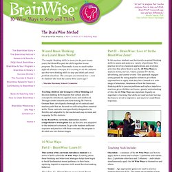 BrainWise Program - Decision Making in Teens