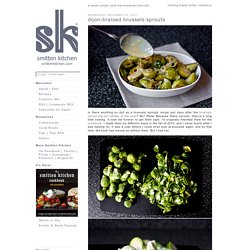 dijon-braised brussels sprouts