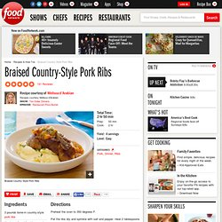 Braised Country-Style Pork Ribs Recipe : Melissa d'Arabian