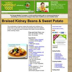 Braised Kidney Beans & Sweet Potato