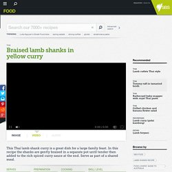 Braised lamb shanks in yellow curry recipe
