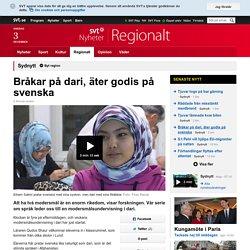 Bråkar på dari, äter godis på svenska