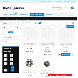 Brake Needs - Wheel Hub Bearing & Replacement