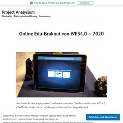 Online Edu-Brakout von WES4.0 – 2020 – Project Analysium