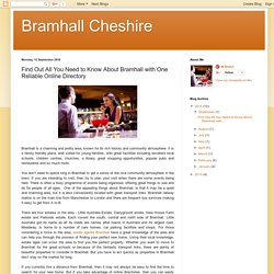 Bramhall Cheshire: Find Out All You Need to Know About Bramhall with One Reliable Online Directory