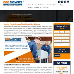 Need to Hire Best Furniture Movers in Brampton