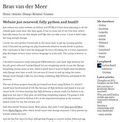 van der Meer's new website done in Python and HTML5!