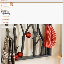 DIY Branch Shelf - The Home Depot Blog