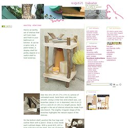 Rustic Tree Branch Shelves