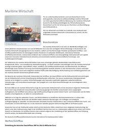 Branchenfokus - Maritime Wirtschaft