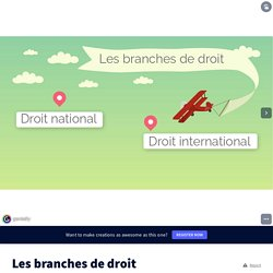 Les branches de droit by adutremee on Genial.ly