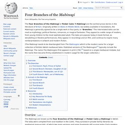 Four Branches of the Mabinogi - Wikipedia