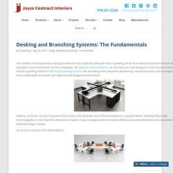 Desking and Branching Systems: The Fundamentals - Joyce Contract Interiors