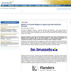 What's in a brand? Belgium's regions put their best foot forward